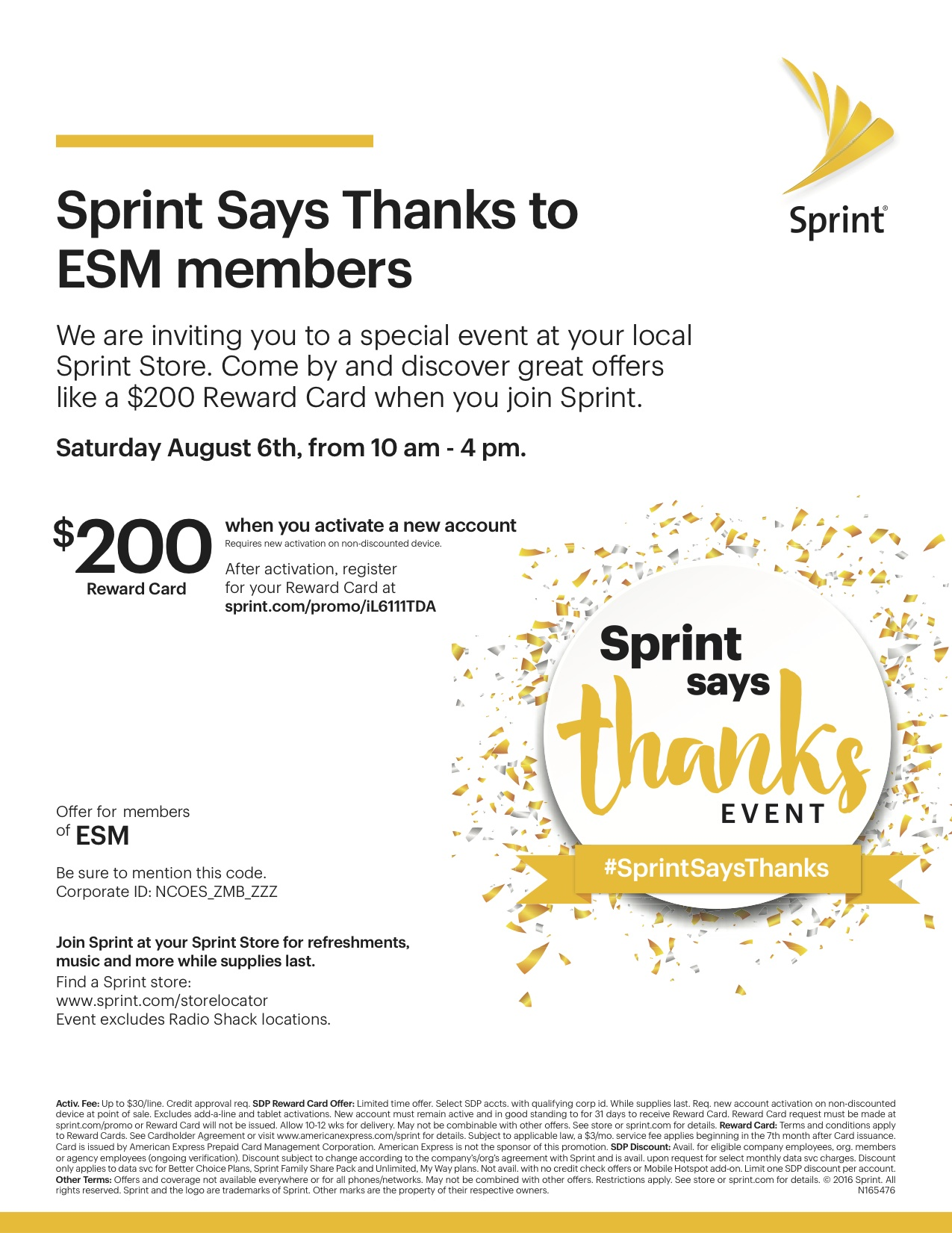 Sprint Says Thanks Event for ESM members_Aug_6_2016